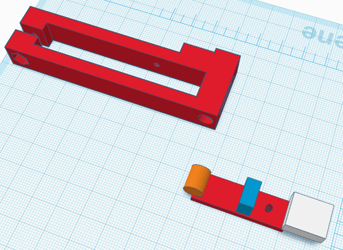 Vibrationssensor in TinkerCAD