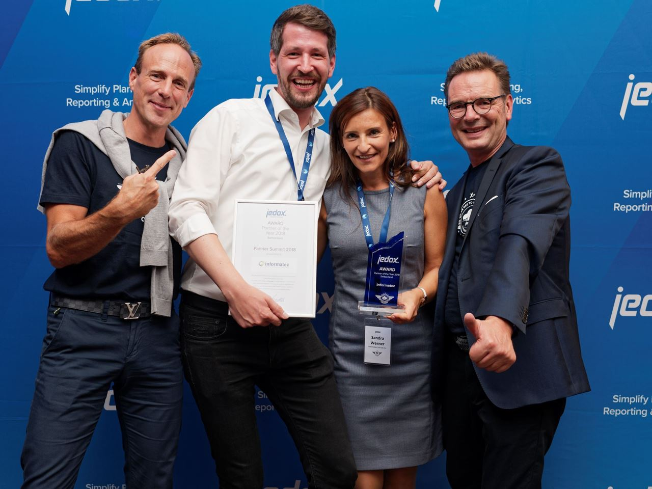 Informatec ist Jedox «Partner of the Year 2018 Switzerland»
