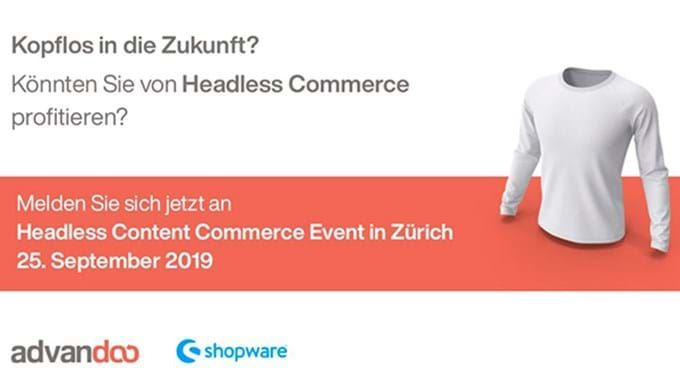 "Insights Event ""Headless Content Commerce – Kopflos in die Zukunft?"""